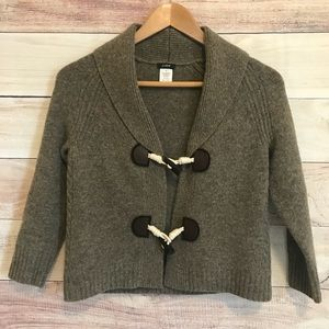 J.Crew cashmere/wool blend toggle cardigan